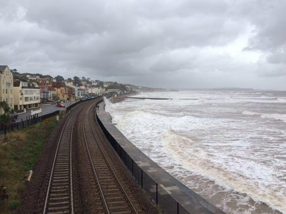 Railway in Devon to be closed tomorrow morning owing to extreme weather