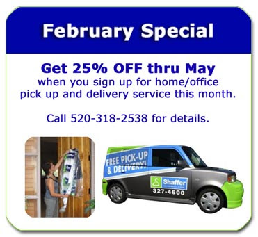 february special take 25 percent off garment dry cleaning copy