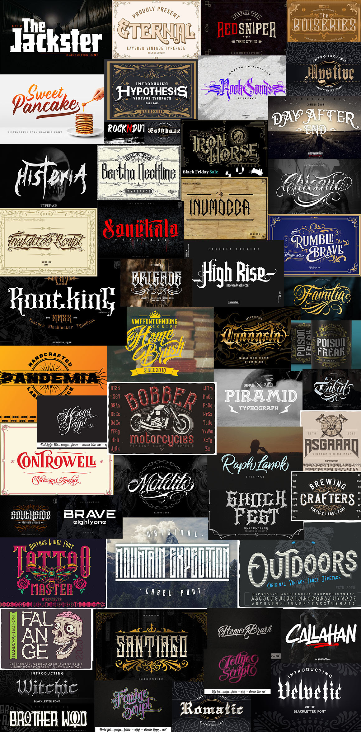 The Tattoo Fonts Bundle pixelo Download