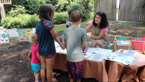 Volunteer to play with the kiddos at Mudpie Mondays and Adventure Fridays