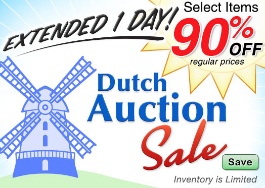 EXTENDED 1 Day! Dutch Auction.