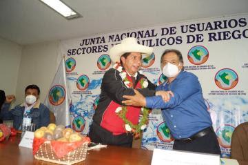 Pedro Castillo se reunió con dirigentes de la Junta de Usuarios de Riego e hizo diversas promesas como parte de su agenda agraria