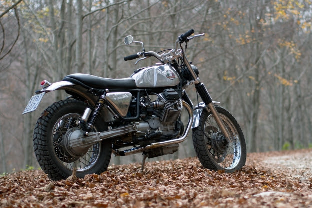 Moto Guzzi Nevada: custom scrambler designed by Filippo Barbacane of Officine Rossopuro