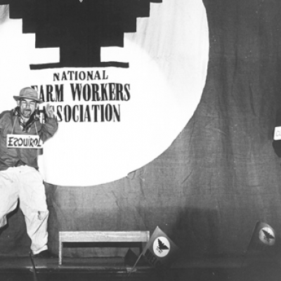 Source: San Francisco State University. (2007). Cultivating creativity: The arts and the Farm Worker's movement during the 60's and 70's. Retrieved from: http://www.library.sfsu.edu/exhibits/cultivating/intropages/teatrocampesino.html