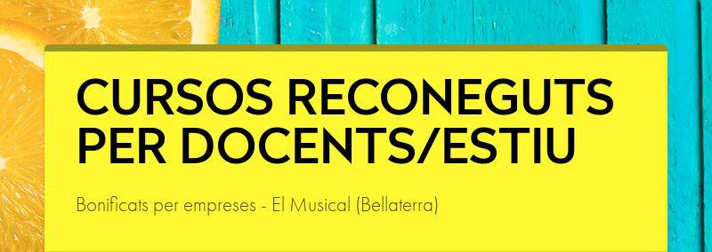 CURSOS RECONEGUTS PER DOCENTS/ESTIU Bonificats per empreses - El Musical (Bellaterra)