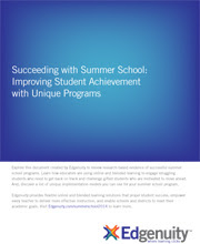 Succeeding with Summer School cover
