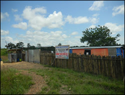 In March, the Bomi County Community Health Department in Liberia built this Ebola isolation ward, which later became part of a community care center described in this issue of <em>MMWR</em>.