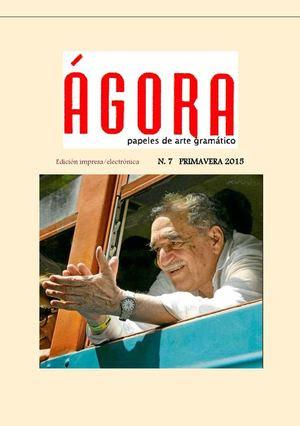 Revista ÁGora Digital N 7 Nueva Colección Primavera 2015 Edición Electrónica De ÁGora Papeles De Arte Gramático