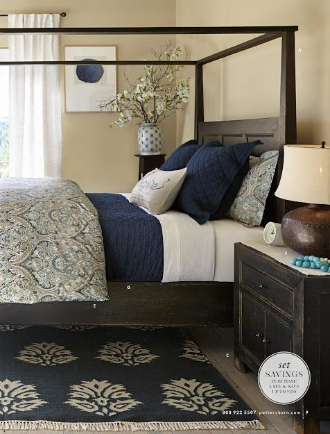 Pottery Barn Winter 2014 Catalog Highlights Blue & Indigo