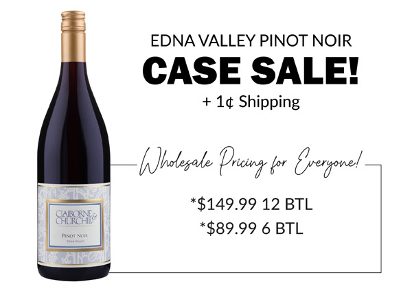 Edna Valley Pinot Noir CASE SALE! + 1 Cent Shipping!!