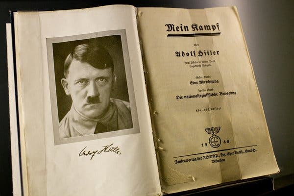 """""""Mein Kampf"""" was first banned by Amazon and then reinstated."""