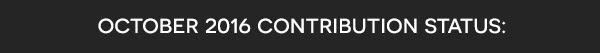 October 2016 contribution status