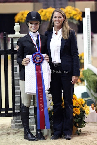 EMO Trip of the Show - Equitation winner Megan MacPherson with Jennifer Glass of Capital Challenge Horse Show. Photo © Jennifer Wood Media, Inc.