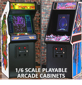 REPLICADE 1/6 SCALE PLAYABLE ARCADE CABINETS