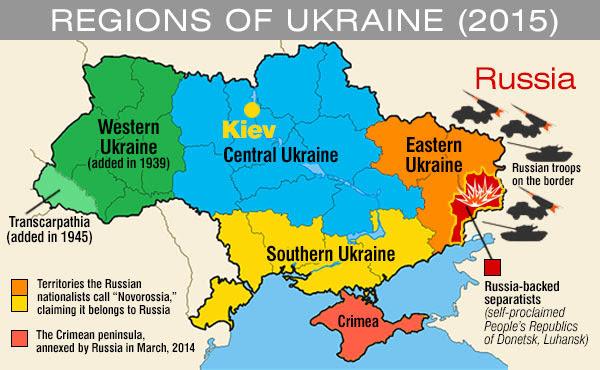 Ukraine map west east fighting