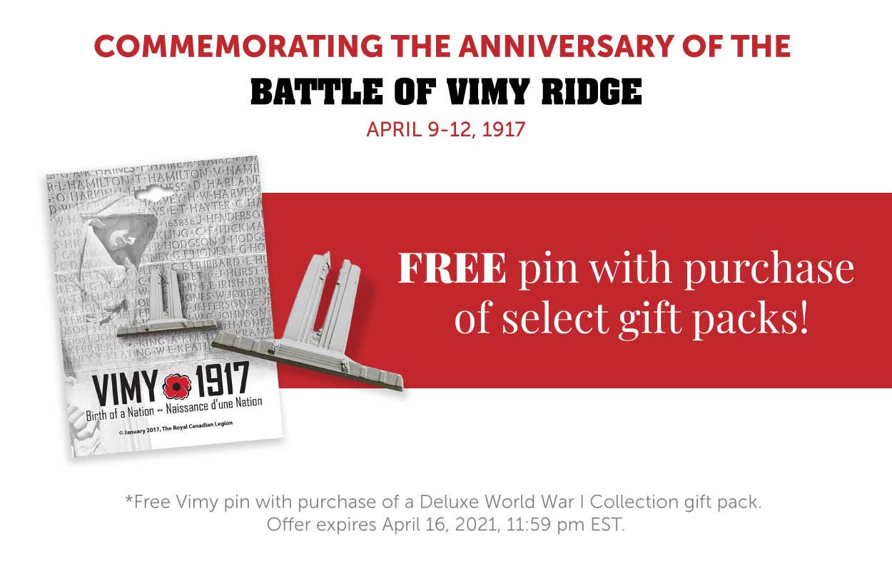 Free Pin with purchase of select gift packs!