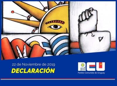 Declaración del PCU ante la campaña del miedo que están llevando adelante sectores autoritarios que buscan incidir en la decisión de nuestro pueblo -  22/11/19