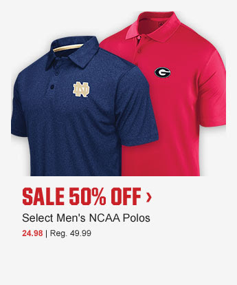 SALE 50% OFF > | Select Men's NCAA Polos | 24.98 | Reg. 49.99