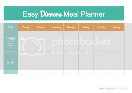 Easy Dinners Meal Planner