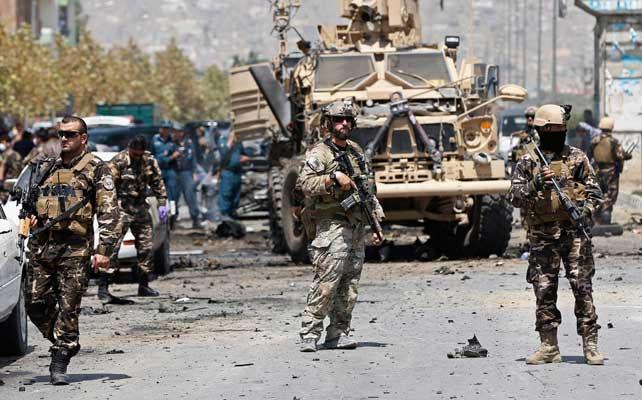 Tropas de la OTAN en Kabul.