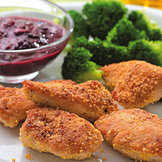 Breaded cutlets and broccoli