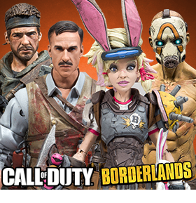 MCFARLANE BORDERLANDS & CALL OF DUTY FIGURES