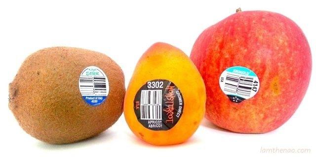 """Mã PLU có 4 chữ số và bắt đầu bằng số """"3"""" ,mã số,trái cây nhập ngoại,tem nhập khẩu,ý nghĩa,an toàn thực phẩm"""