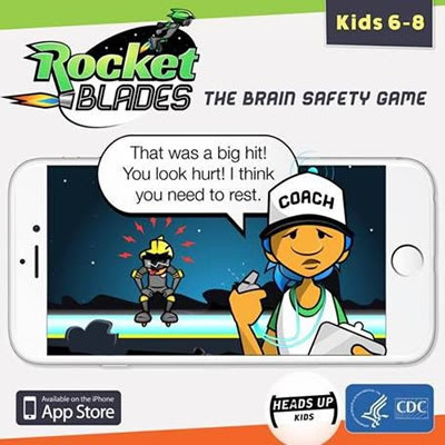 Rocket Blades - the brain safety game - available in the App store