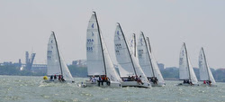 J/70s sailing Cleveland Race Week