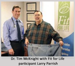 Dr McKnight with Fit for Life participant Larry Parrish