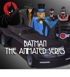 NEW BATMAN ANIMATED BATMOBILE AND FIGURES