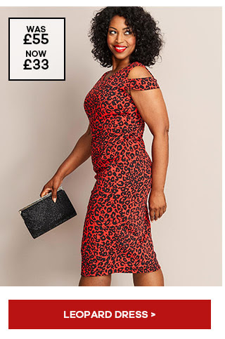 RED LEOPARD PRINT MAGISCULPT DRESS. £33 from JD Williams