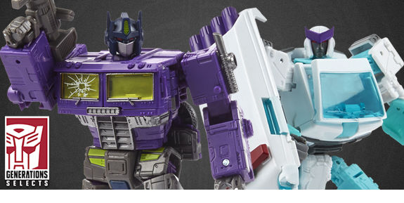 Transformers Generations Selects Shattered Glass Optimus Prime & Ratchet Two-Pack
