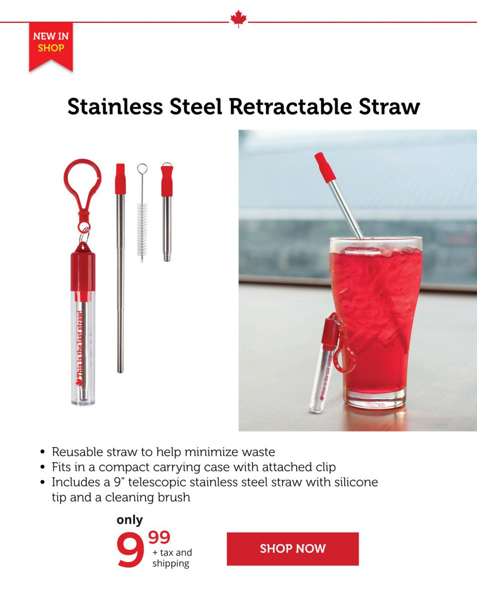 Stainless Steel Retractable Straws