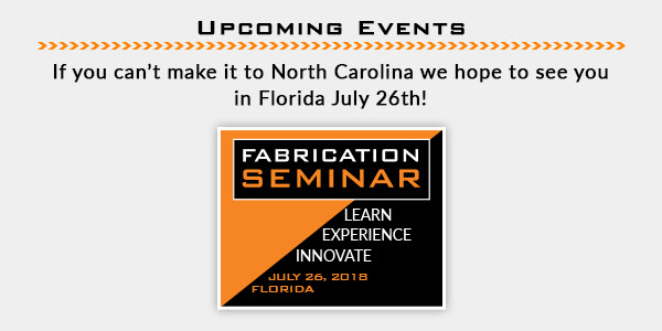 Upcoming Events If you can't make it to North Carolina we hope to see you in Florida July 26th!
