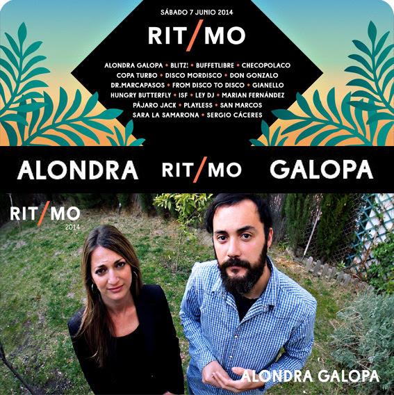 ALONDRA GALOPA en RITMO Festival 2014  Sábado 7 de Junio