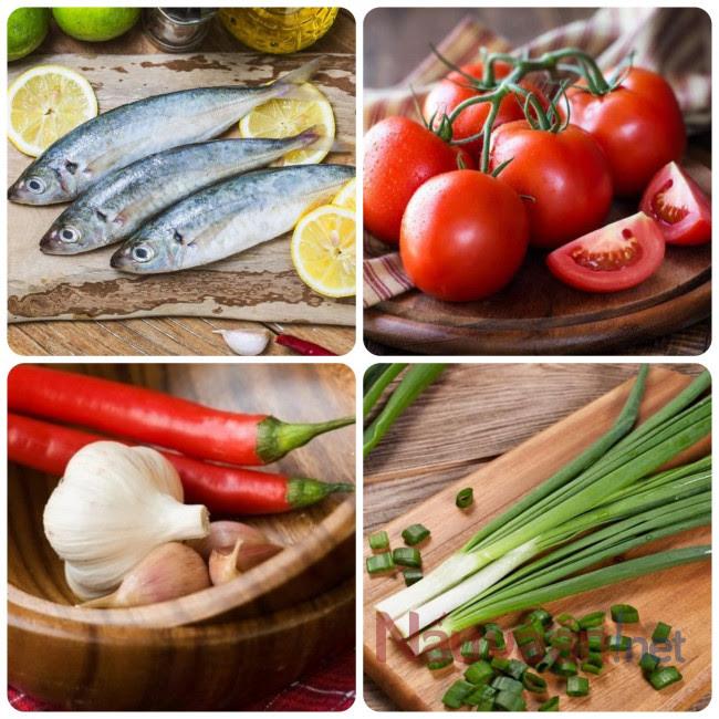 nguyên liệu cần thiết làm món cá nục kho cà chua