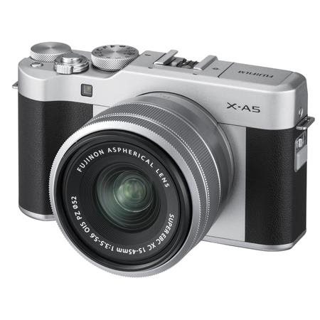X-A5 24.2MP Mirrorless Digital Camera with XC 15-45mm f/3.5-5.6 OIS PZ Lens, Silver