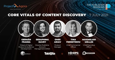 """Project Agora, one of the leading Media Technology companies in EMEA, is to host an online thought leadership event on July 7th, entitled """"Core Vitals of Content Discovery"""". As the title implies, this publisher-oriented forum will be focusing on Core Web Vitals, the change to Google's algorithm which is set to have a serious impact on publishers, and Content Discovery strategies."""