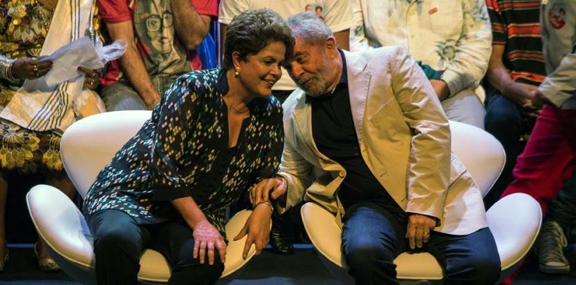 A Rio de Janeiro, l'ancien président brésilien, Luiz Inacio Lula da Silva, en soutien à la présidente sortante Dilma Rousseff, le 15 septembre 2014. (AFP / YASUYOSHI CHIBA)