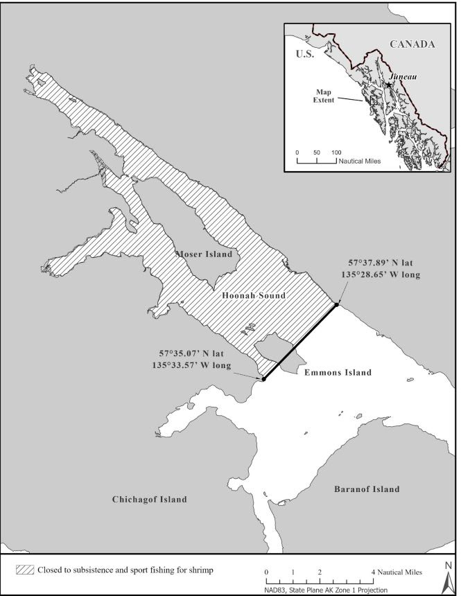 Hoonah Sound Subsistence and Sport Shrimp Fisheries Remain Closed