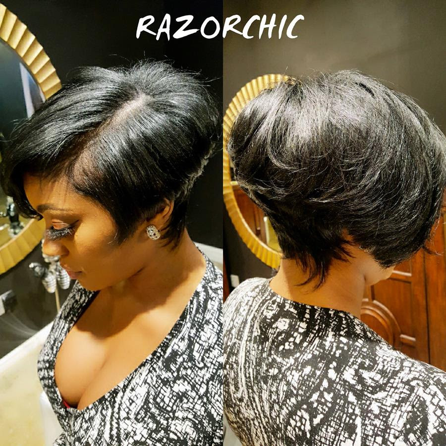 Razor Chic of Atlanta Hair Cut Makeover on RHOA's Portia Williams.  Photo Credit: Razor Chic of Atlanta
