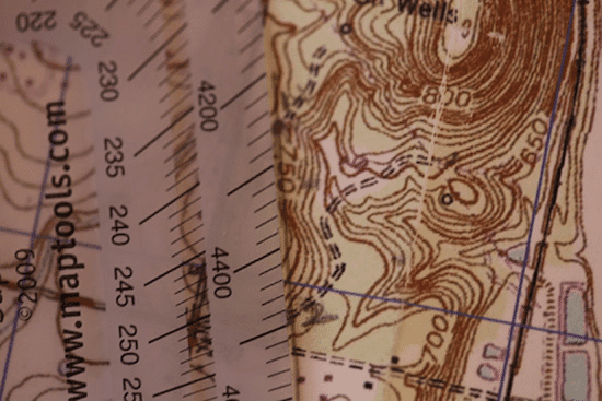 drawing bearing on topo topographic map