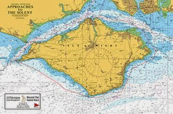 Isle of Wight round island race map