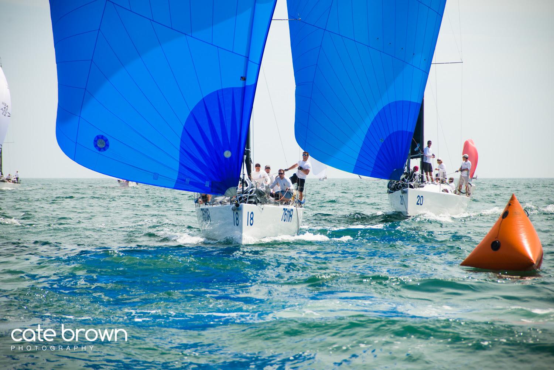 J/111s sailing worlds off Newport, RI