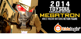 2014 TOY SOUL EXCLUSIVE MECHA NATIONS MEGATRON GOLD EDITION