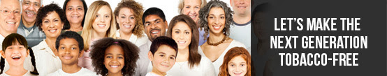 Banner image - make next generation tobacco free