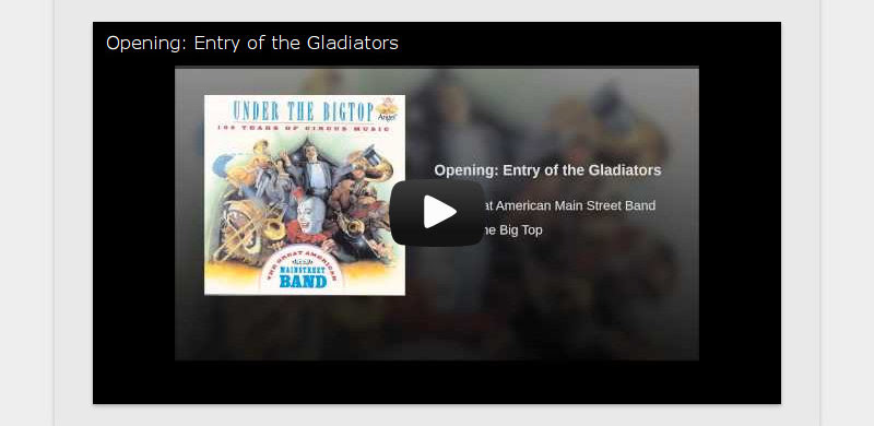 Opening: Entry of the Gladiators