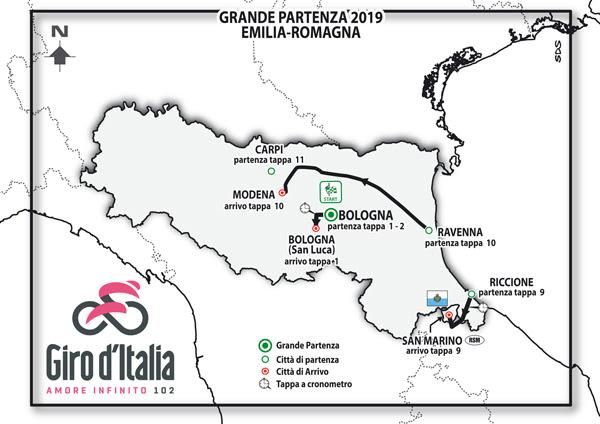 9742bc98 0c8f 4e02 98fd 4821770919b5 GIRO D'ITALIA 2019: IN EMILIA ROMAGNA LA GRANDE PARTENZA E ALTRE TAPPE SUL TERRITORIO
