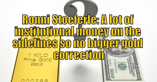 Ronny Stoeferle: Money on sidelines